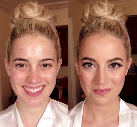 Shocking Photos That Prove How Much Makeup Can Completely Transform Women