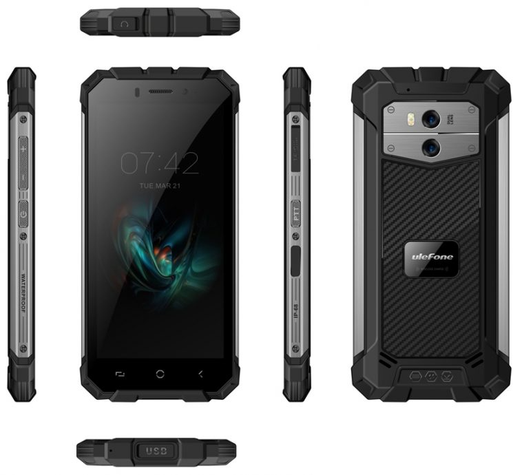 Protected Ulefone Armor X will receive a new screen and wireless charging