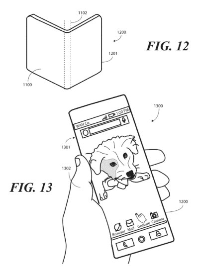 Motorola patents the device with a flexible OLED-screen