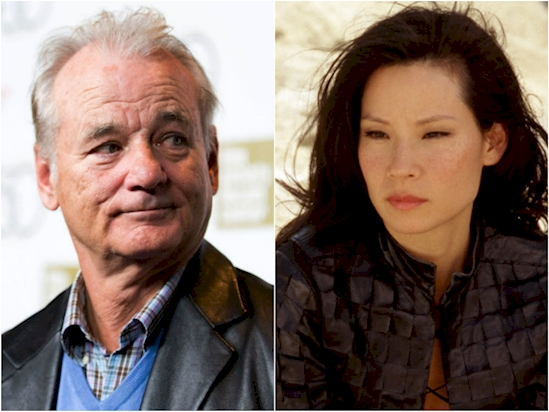 Bill Murray and Lucy Liu