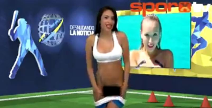 News Reporter Strips Naked On TV While Discussing About Cristiano Ronaldo