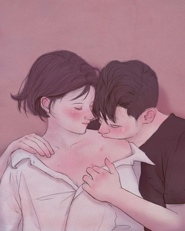15 Illustrations Showing the Beauty of Falling in Love