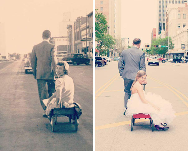 14 People Recreated Their Grandparents Photos And The Result Was Truly Amazing!