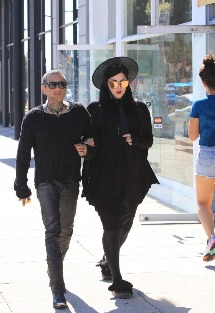 4 Photos Of Kat Von D With Her Husband – West Hollywood 07/03/2018
