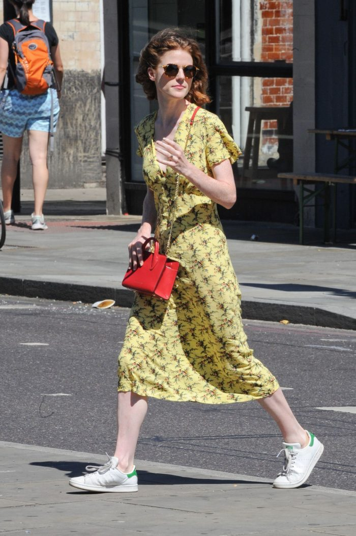 8 Photos Of Rose Leslie – Out In London, July 2018