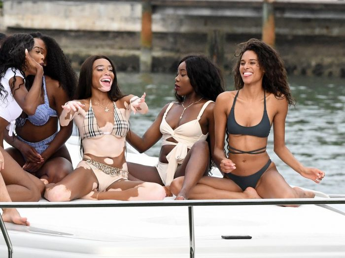 Winnie Harlow Show Off Her Curves in Bikini on a Yacht in Miami 07/28/2018