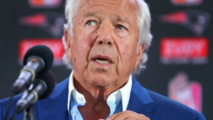 New England Patriots owner charged with solicitation of prostitution: Police
