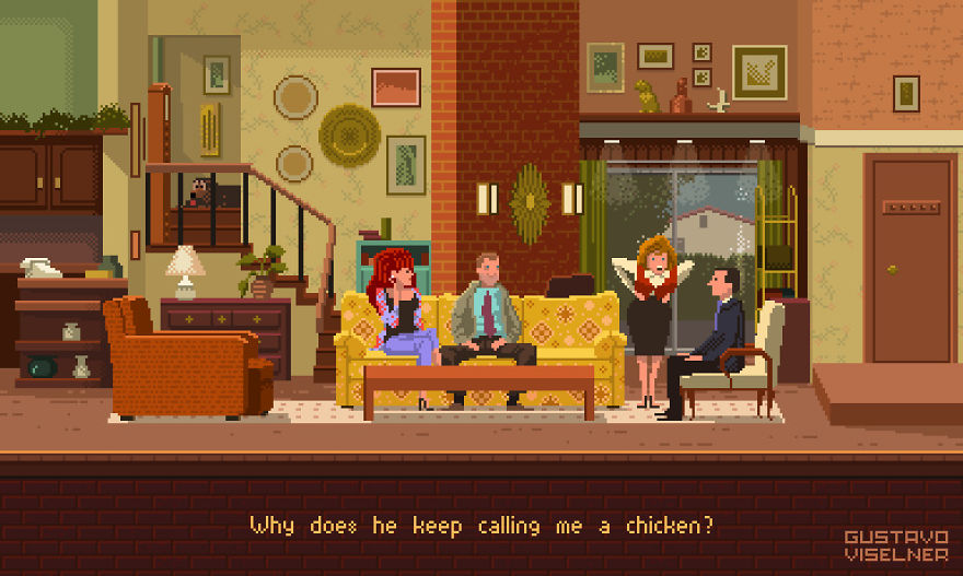Pixel Artist Made Game Scenes Based On Popular Tv Series And Movies And They're Better Than The Originals