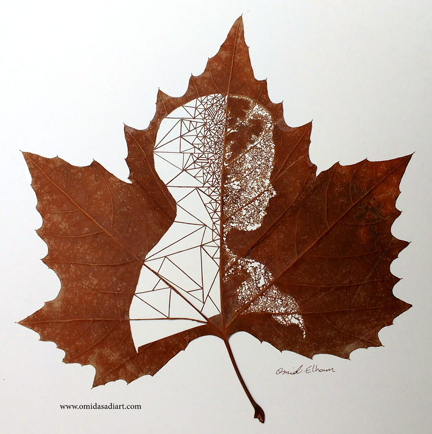 This Artist Creates Leaf Art By Carefully Cutting Intricate Scenes And It Looks Mind Blowing