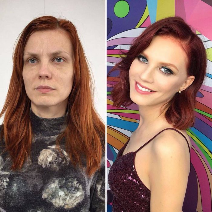Women Before And After Makeup (26 Photos)
