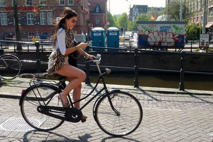 Cute Girls Like To Ride A Bicycle (34 Photos + 2 GIFs)