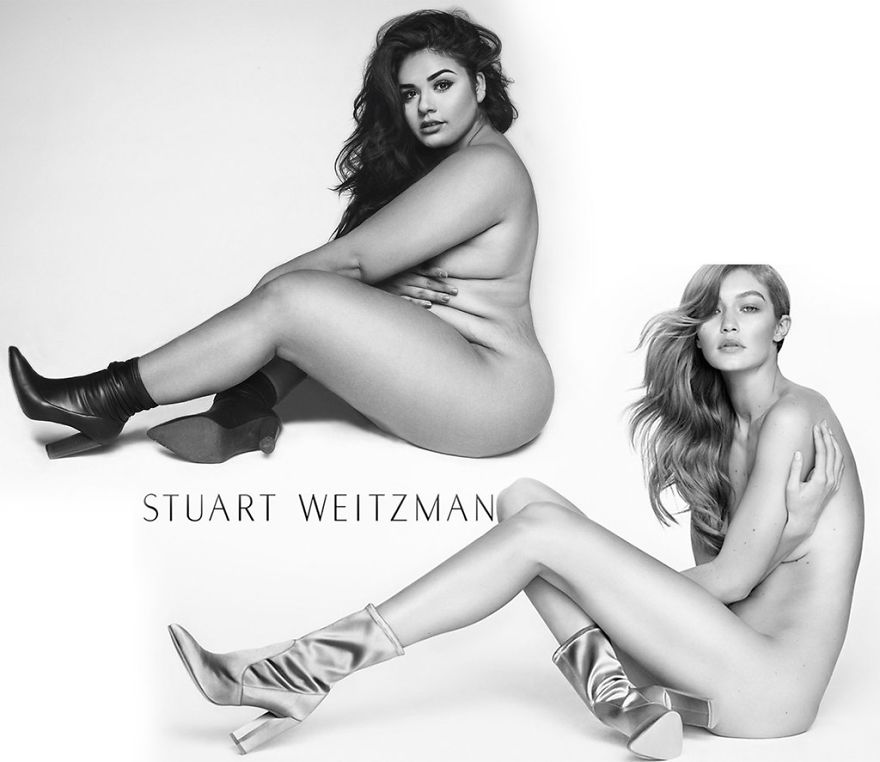 A Plus-Size Model Recreates Gigi Hadid's Nude Photo Shoot And Breaks The Stereotypes