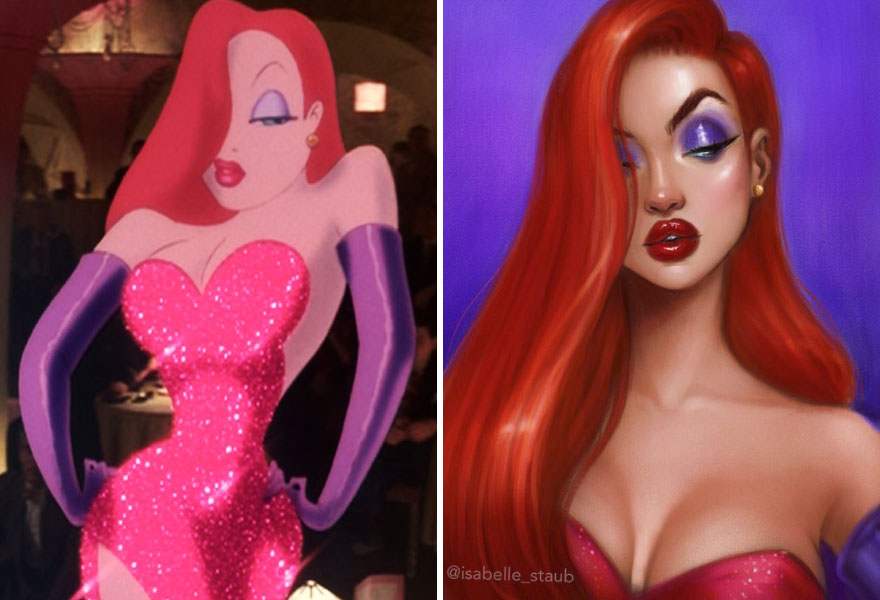Artist Created Cartoon Characters And Disney Princesses In Different Style And They Look Perfect