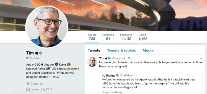 Tim Cook is now Tim Apple on Twitter