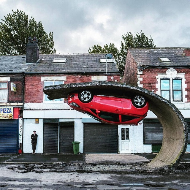British Sculptor Alex Chinneck Breaks The Laws Of Gravity (21 Photos)