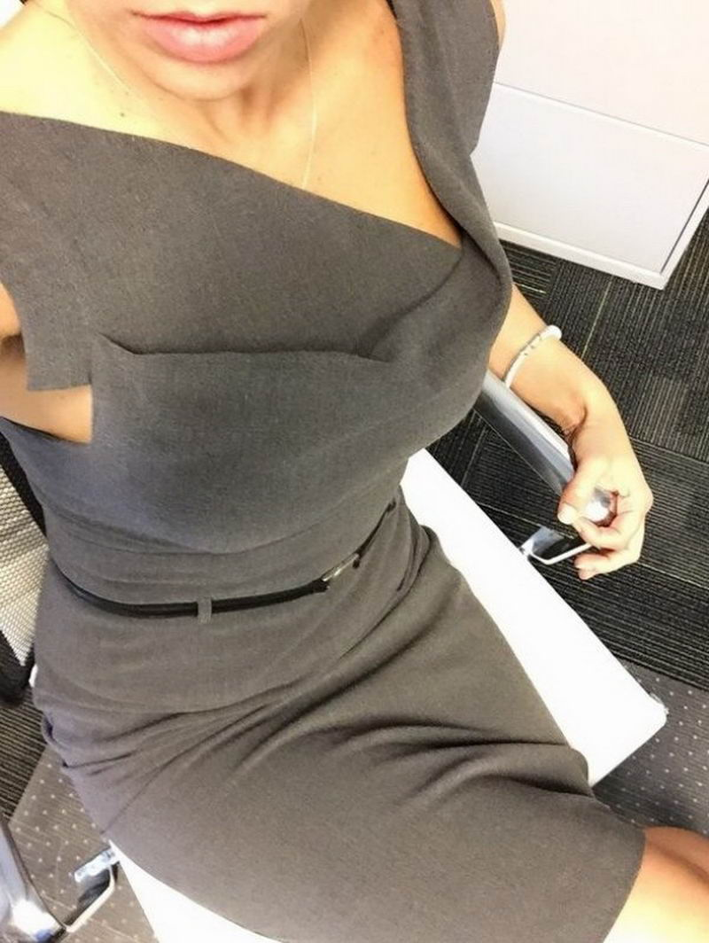 What Hot Women Like To Do When They Get Bored At Work (34