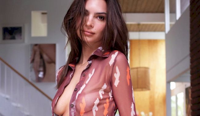 Emily Ratajkowski in See Through Inamorata Swimwear! (NSFW)