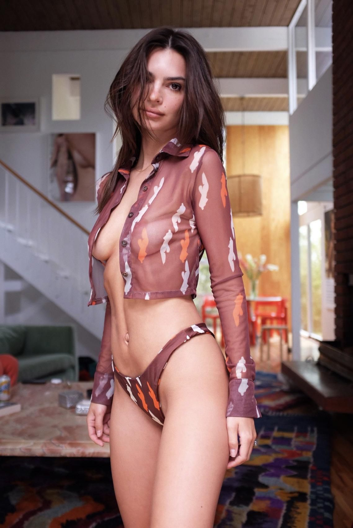 Emily Ratajkowski Looks Less Busty These Days