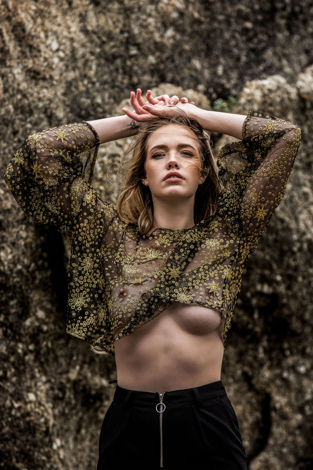 Bronwyn Trafford in a Sheer Top and Topless!