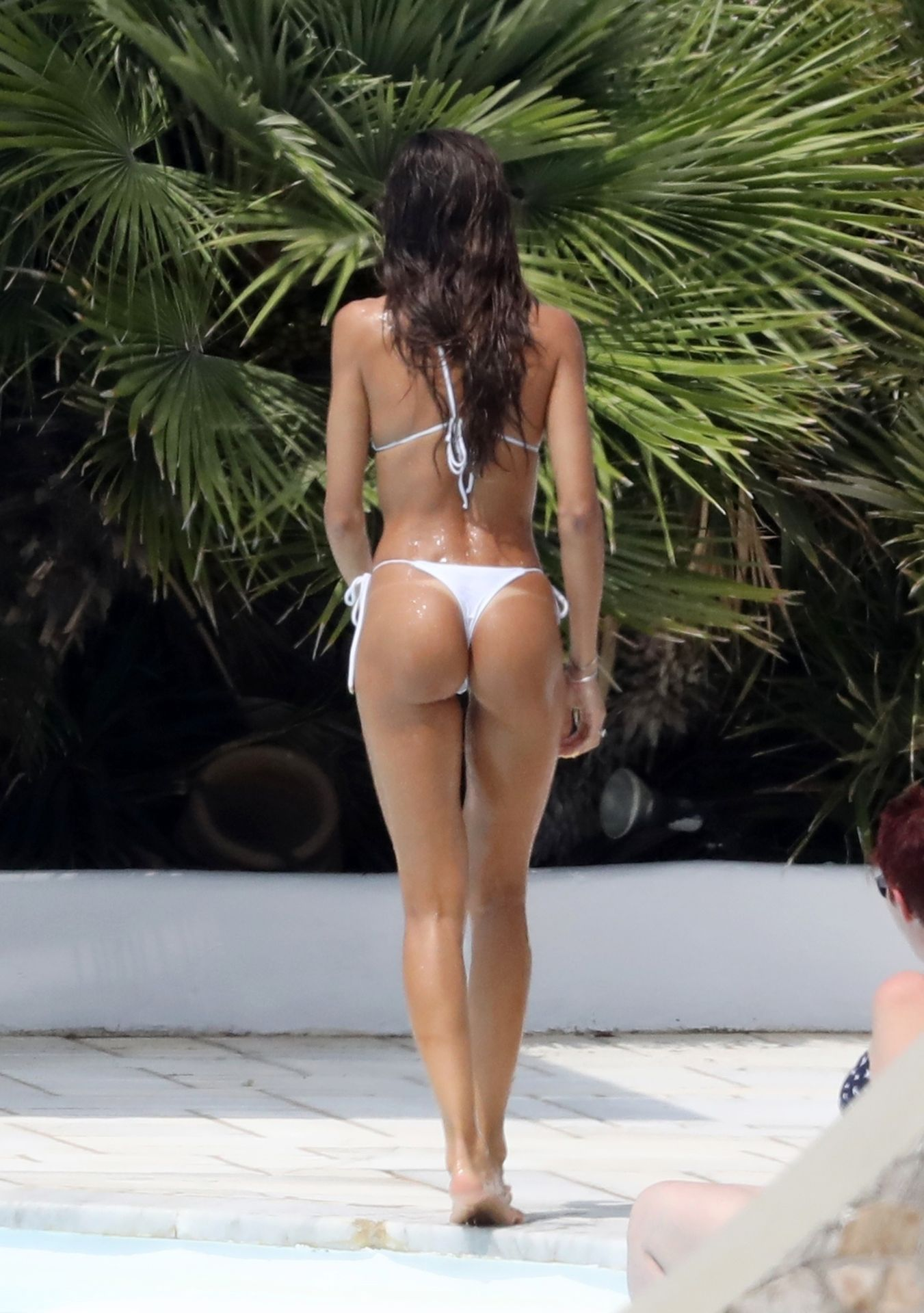 Izabel Goulart Showing Ass in a Tiny White Bikini!