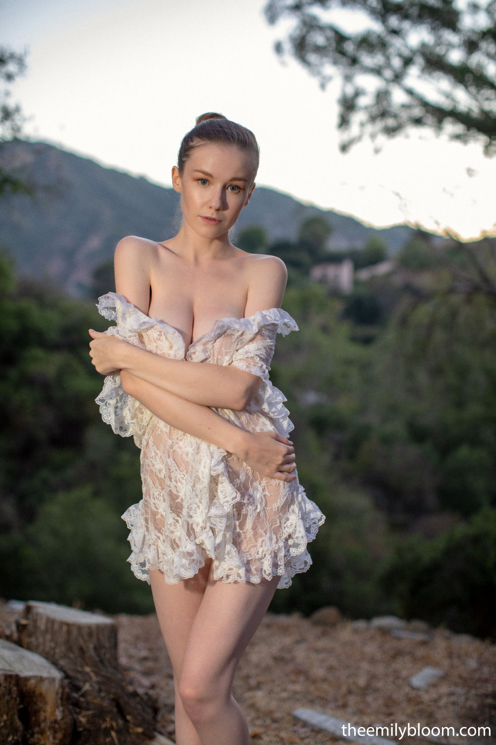 Emily Bloom Posing Nude Outdoors!