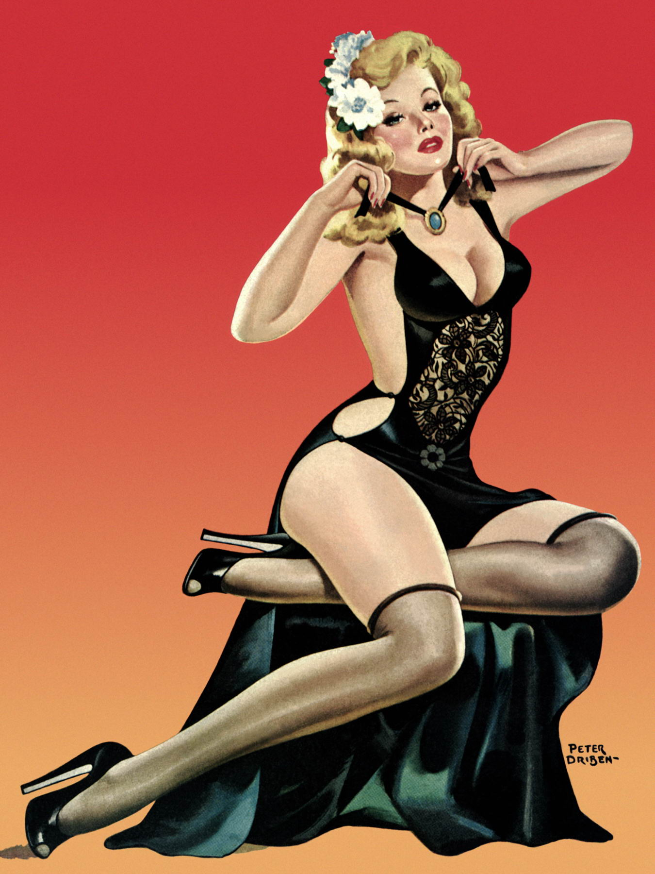 85 Drawn Pin-Up Girls Of The 40-50s