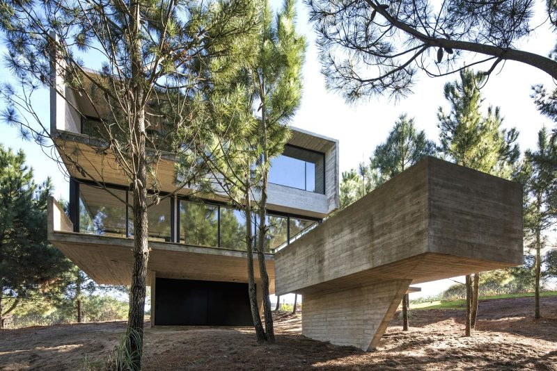 House Near The Sea Behind A Screen Of Pines By Luciano Kruk