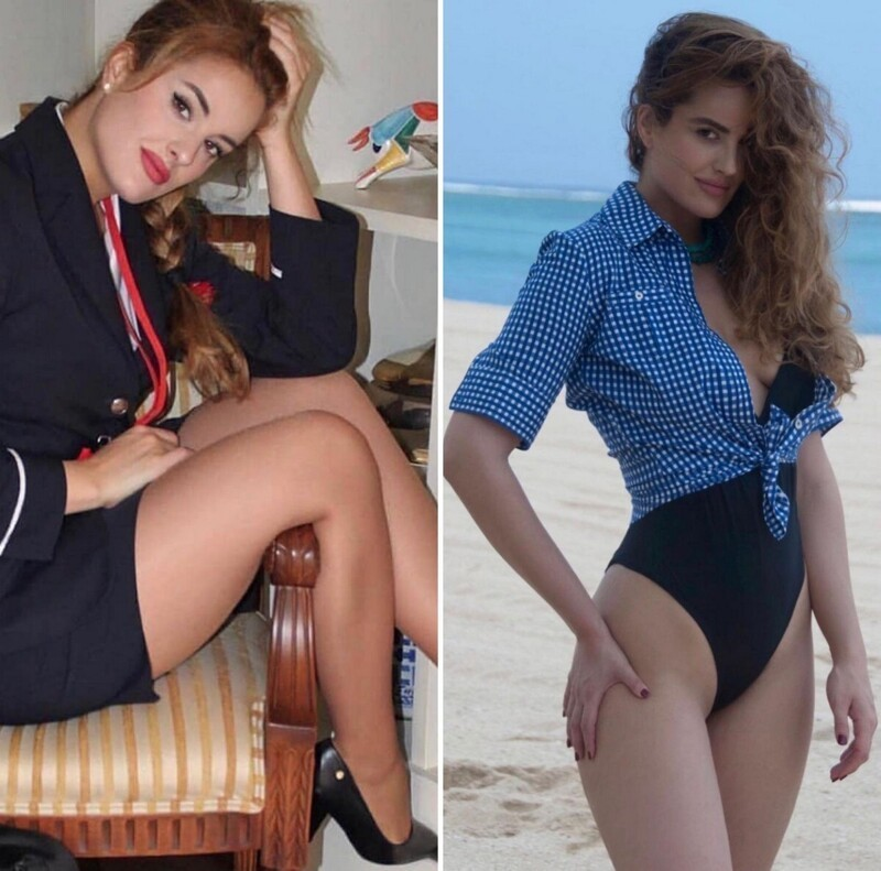 Hot Flight Attendants In And Out Uniform (35 Photos)