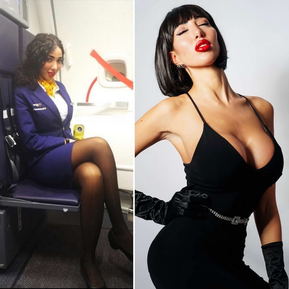 Hot Flight Attendants In And Out Uniform (34 Photos)
